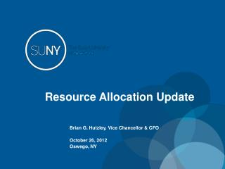 Resource Allocation Update