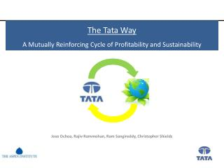 The Tata Way A Mutually Reinforcing Cycle of Profitability and Sustainability