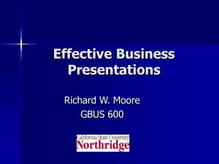 Effective Presentations Slides