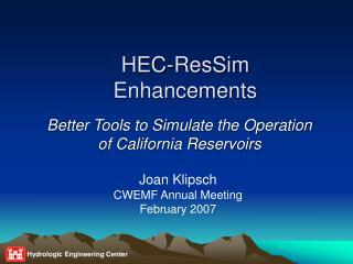 HEC-ResSim Enhancements