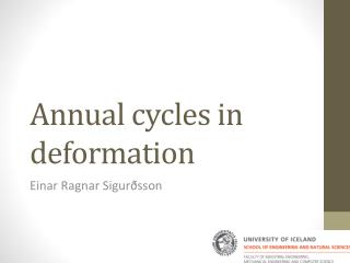 Annual cycles in deformation