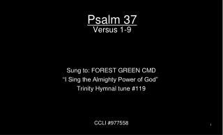 Psalm 37 Versus 1-9