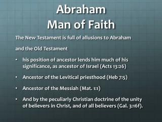 Abraham Man of Faith