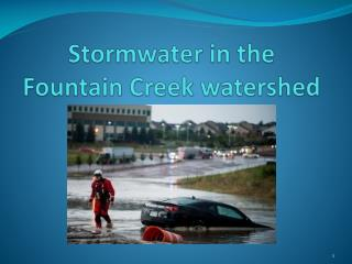 Stormwater in the Fountain Creek watershed