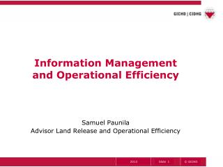 Information Management and Operational Efficiency