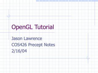 OpenGL Tutorial