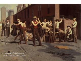 Ironworkers' at Noontime By Thomas Anschutz, 1880