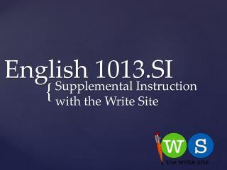 English 1013.SI