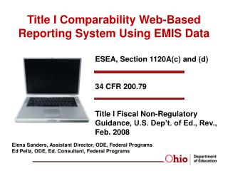Title I Comparability  Web-Based Reporting System Using EMIS Data