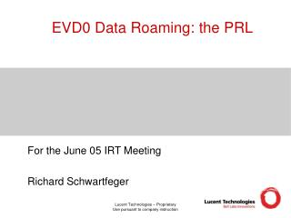 EVD0 Data Roaming: the PRL