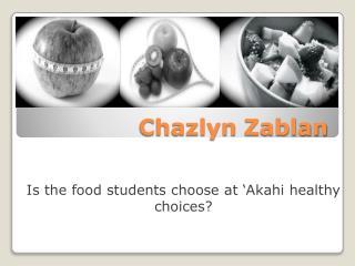 Chazlyn Zablan