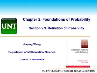 Chapter 2. Foundations of Probability  Section 2.3. Definition of Probability