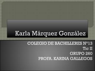 Karla Márquez  González