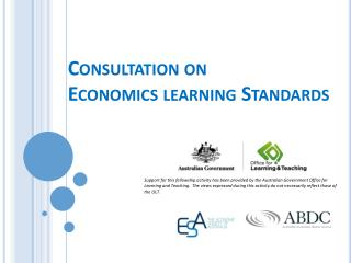 Consultation on  Economics learning Standards
