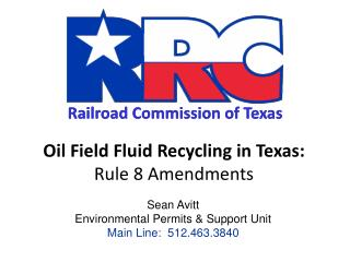 Oil Field Fluid Recycling in Texas: Rule 8 Amendments