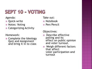 Sept  10 - Voting