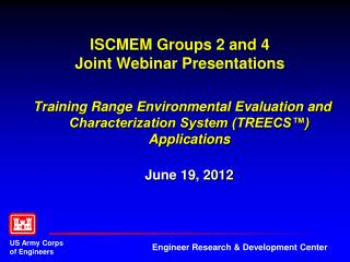ISCMEM Groups 2 and 4  Joint Webinar Presentations