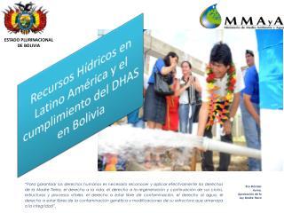 ESTADO PLURINACIONAL DE BOLIVIA