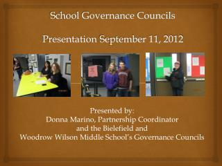 School Governance Councils Presentation  September 11, 2012