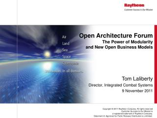 Open Architecture Forum The Power of Modularity  and  New Open Business Models