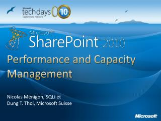 Performance and Capacity Management