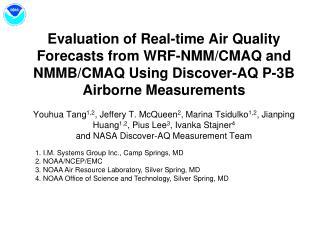 NAM (WRF-NMM) Meteorology