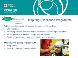 Subject-specific residential courses for able post-16 students  Life-changing