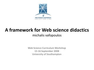 A framework for Web science  didactics michalis vafopoulos