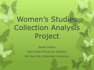 Women�s Studies Collection Analysis Project