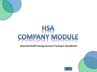 HSA Company Module