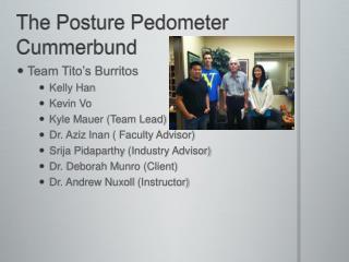The Posture Pedometer Cummerbund