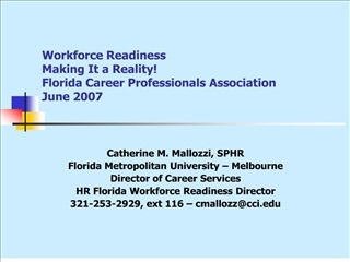 Workforce Readiness   Making It a Reality Florida Career Professionals Association June 2007