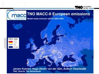 TNO MACC-II European emissions