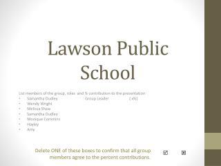 Lawson Public School