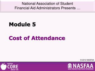 Cost of Attendance