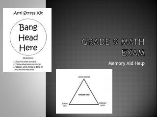 Grade 9  math  exam