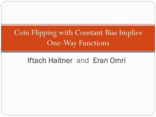 Coin Flipping with Constant Bias Implies One-Way Functions