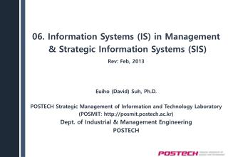 06. Information  Systems (IS) in  Management  & Strategic  Information Systems (SIS)