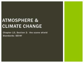Atmosphere & climate change