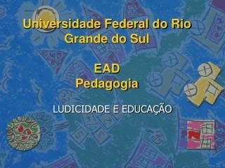 Universidade Federal do Rio Grande do Sul  EAD Pedagogia
