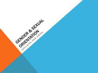 Gender & Sexual Orientation