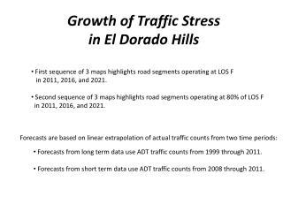 Growth of Traffic Stress in El Dorado Hills
