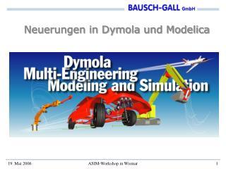 Neuerungen in Dymola und Modelica