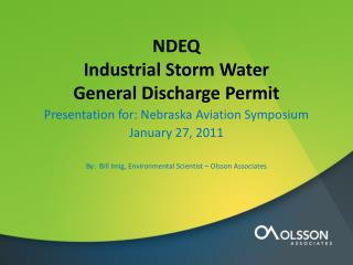 NDEQ  Industrial Storm Water  General Discharge Permit