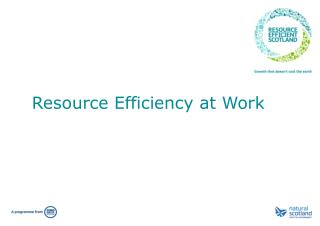 Resource  Efficiency  at  Work