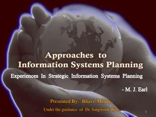 Approaches  to            Information Systems Planning