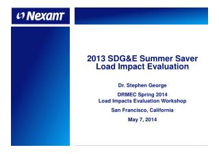 2013 SDG&E Summer Saver Load Impact Evaluation