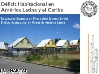Déficit Habitacional en  América Latina y el Caribe