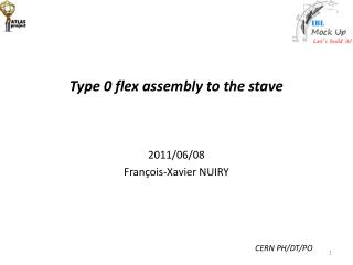 Type 0 flex assembly to the stave