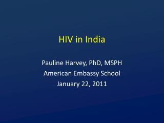 HIV in India